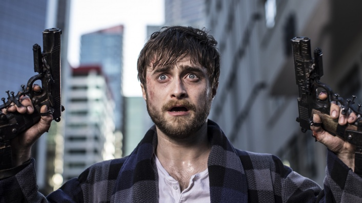 Daniel Radcliffe has guns bolted to his hands in Guns Akimbo