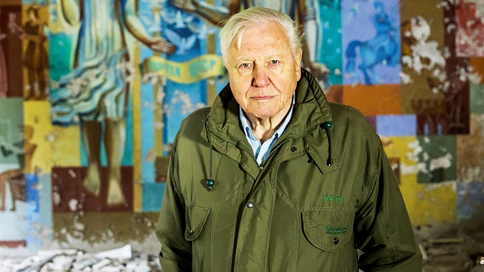Why does David Attenborough avoid the words 'climate change' in A Life On Our Planet?