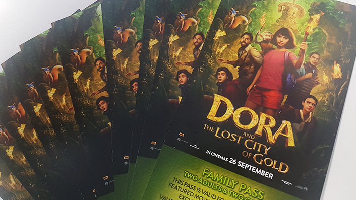 Win 1 of 10 family passes to Dora and the Lost City of Gold
