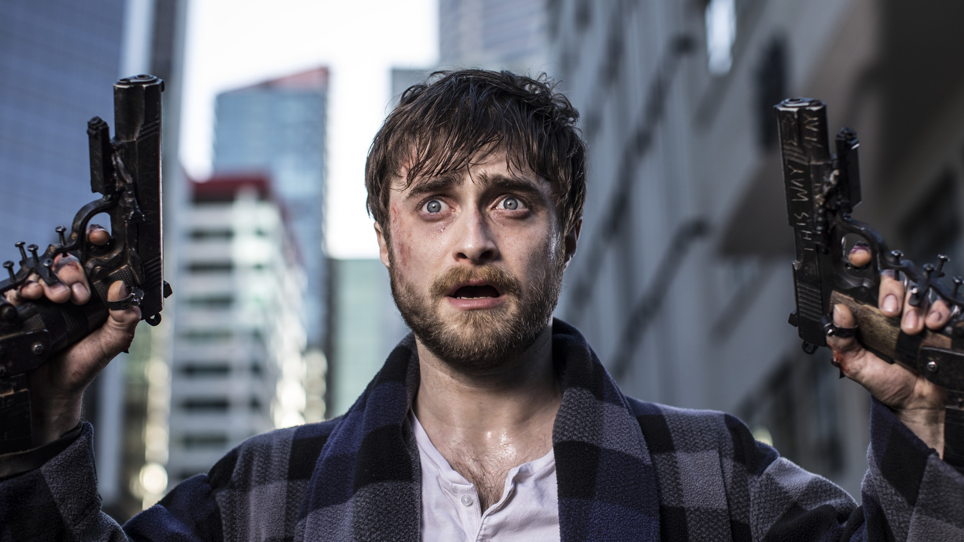 Trailer: Daniel Radcliffe has guns bolted to his hands in Guns Akimbo