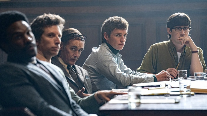 The protest movement is on trial in Aaron Sorkin's energetic courtroom drama